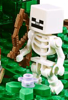 LEGO Minecraft The Jungle Tree House skeleton
