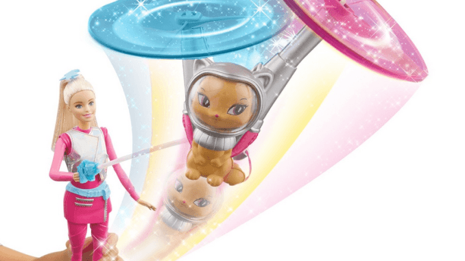 barbie star light adventure galaxy barbie and hover cat review
