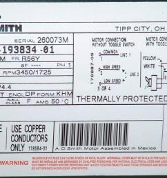 a o smith motor label [ 1120 x 744 Pixel ]