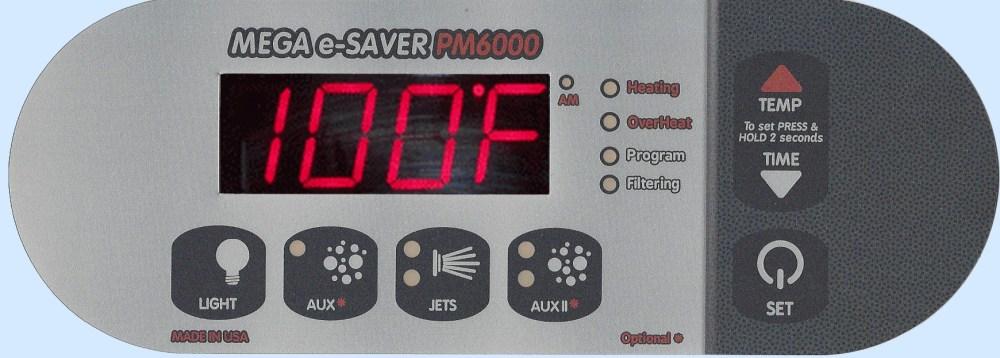 medium resolution of pm6000 digital spa side control