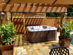 traditional hot tub