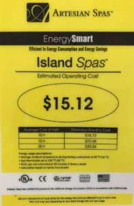 hot tub kilowatt hour cost