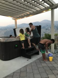 hot tub family time