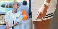 Hailey Baldwin's Giant Engagement Ring Looks Even Bigger ...