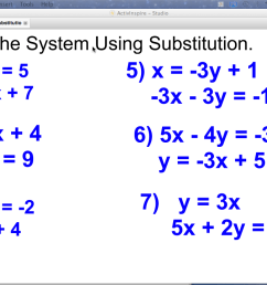 Math Worksheets Substitution And Elimination mathematics substitution  worksheet systems of [ 720 x 1280 Pixel ]