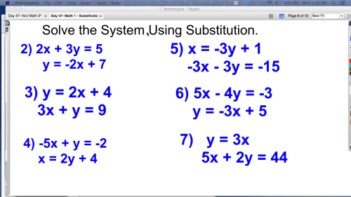 small resolution of Math Worksheets Substitution And Elimination mathematics substitution  worksheet systems of