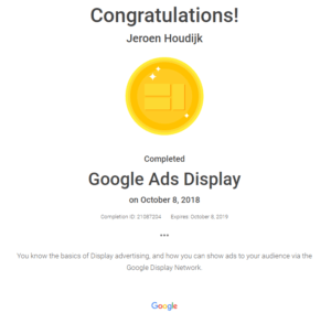 Google Ads Certified Consultant