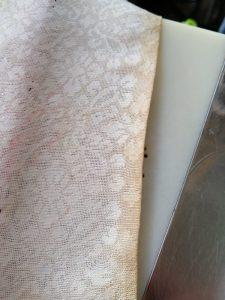 法衣袖口茶色シミ