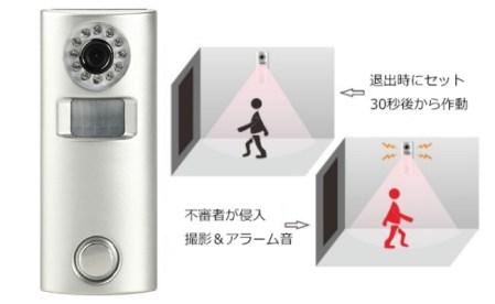 商い部 防犯製品 赤外線警報付き監視カメラ