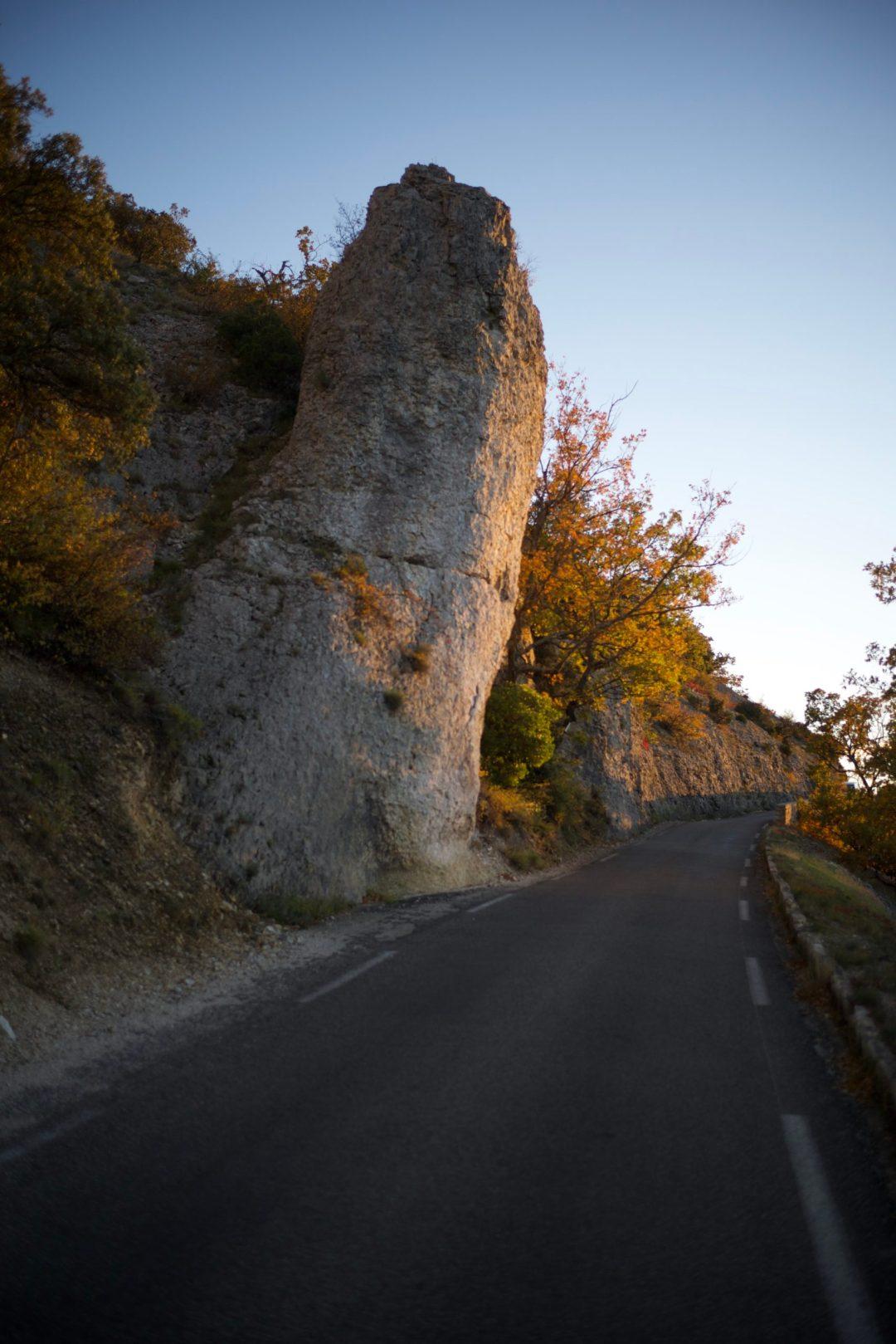 Route somptueuse près de Gordes