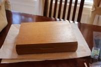 A plain oak box...