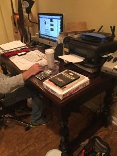 Current desk area