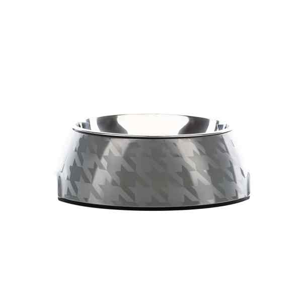 Chic Silver Houndz Dog Bowl