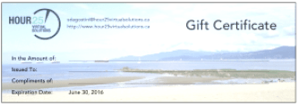 Gift Certificate 2015 2016