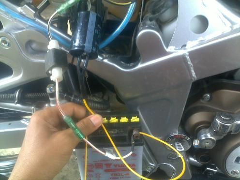MamFaat Pasang Kapasitor Pada Motor  Hourex150ls Blog