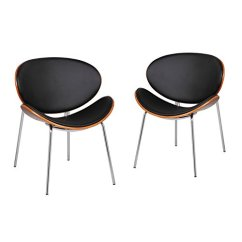 Office Side Chair With Umbrella Adeco 2016 New Bentwood Leisure For Reception Waiting Room Lounge Walnut Matt Black Hour Modern