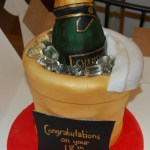 Champagne Bottle Cake In An Ice Bucket Cake To Celebrate A Special 18th Birthday Hours Of Fun