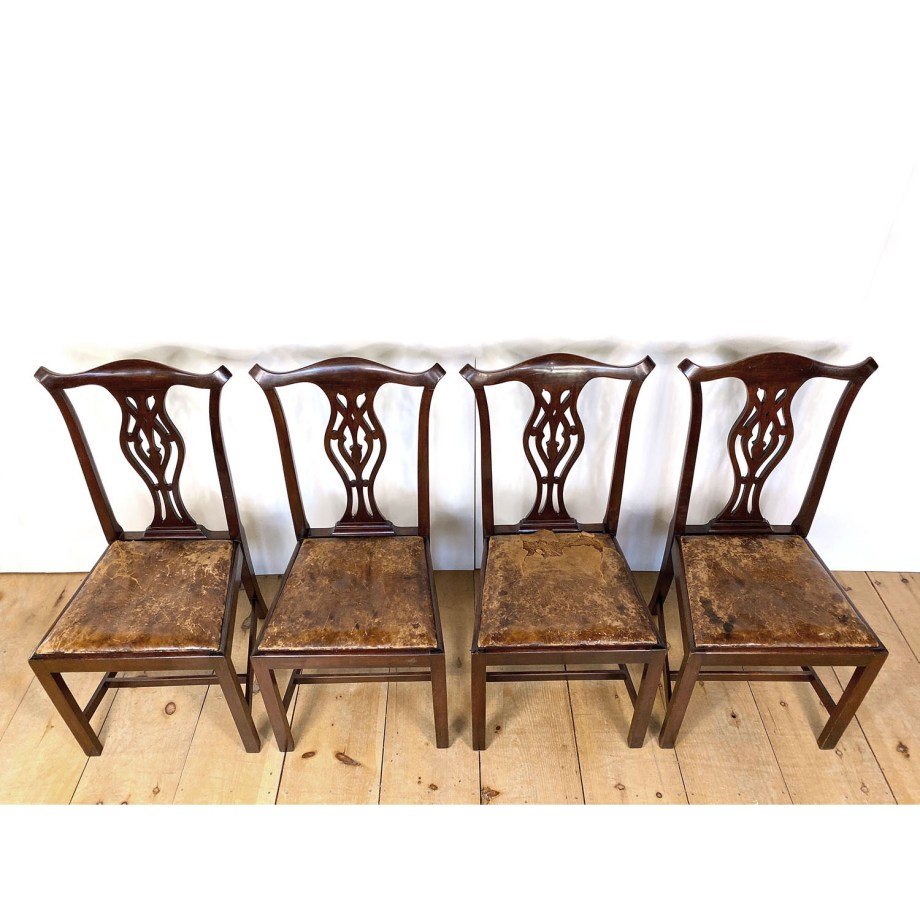 19101414 – Four Chippendale Chairs – 3a