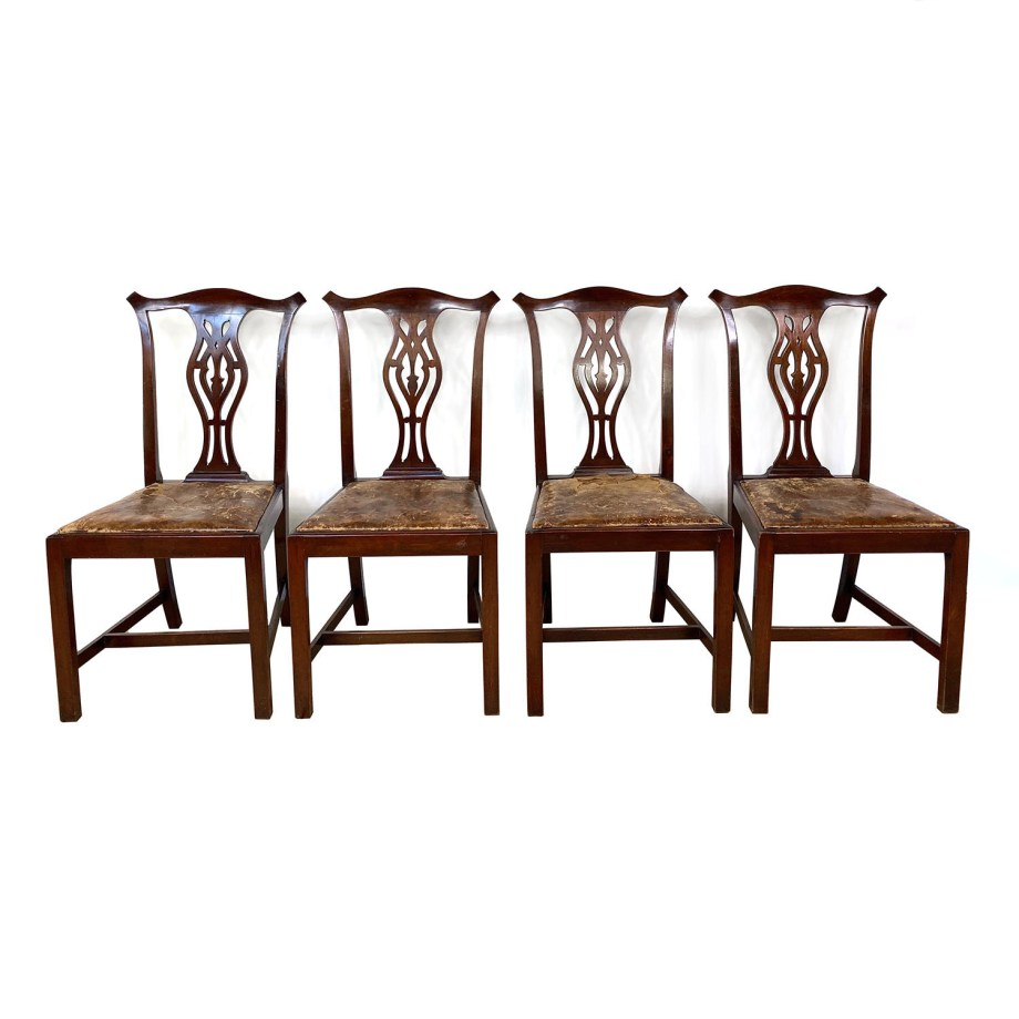 19101414 – Four Chippendale Chairs – 8a