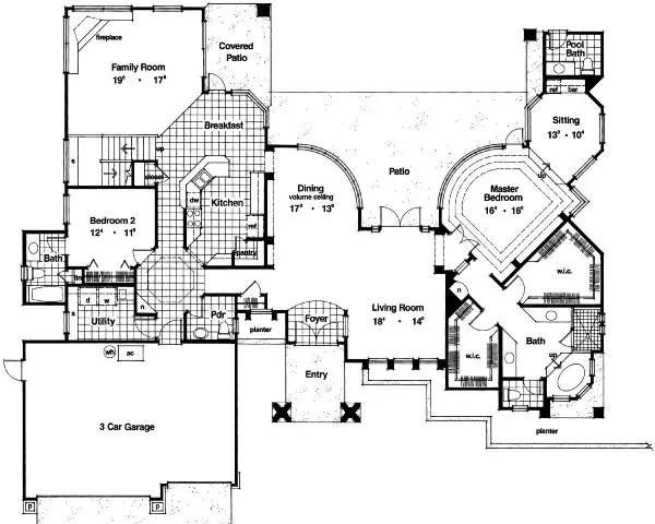 House 27624 Blueprint details, floor plans