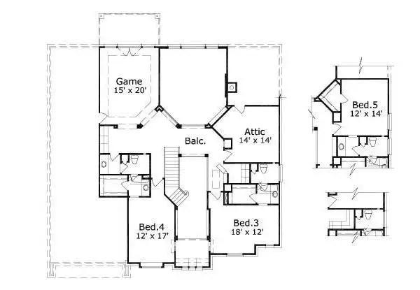 House 26031 Blueprint details, floor plans