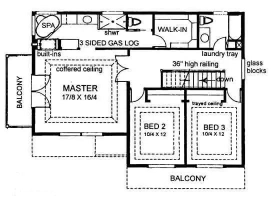 House 28540 Blueprint details, floor plans