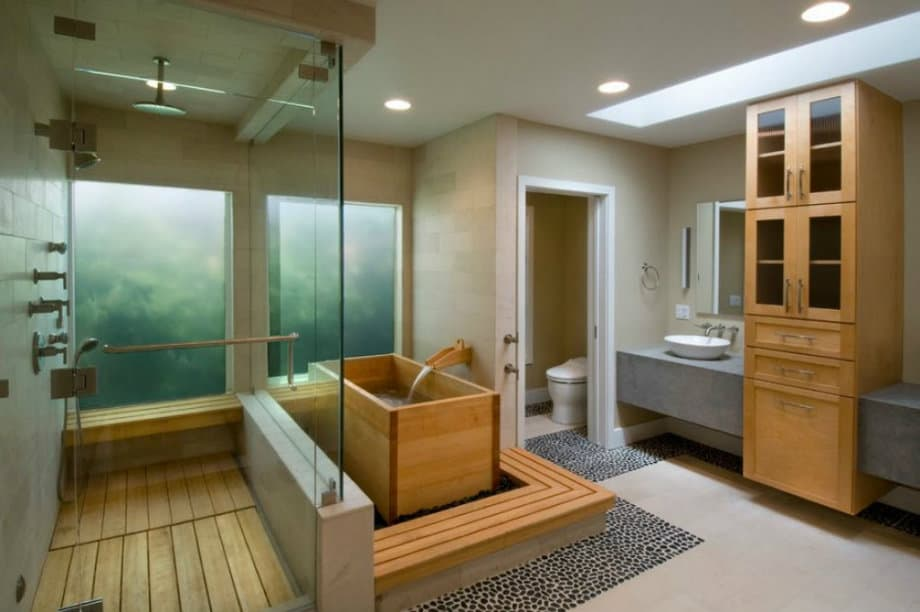 Bathroom design ideas Japanese style bathroom  HOUSE