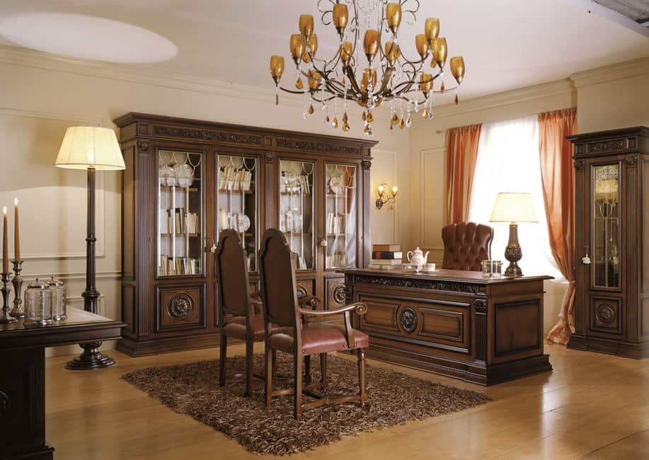 living room designs with chocolate brown sofa red rug for office decor ideas: classic design