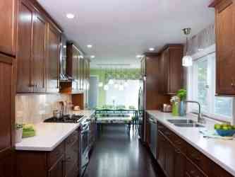 kitchen galley room dining kitchens designs hgtv remodel light remodeling features narrow interior cabinets island layout layouts decorating lighting idea