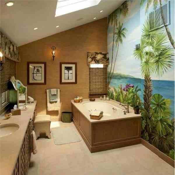 Tropical Bathroom Decorating Ideas
