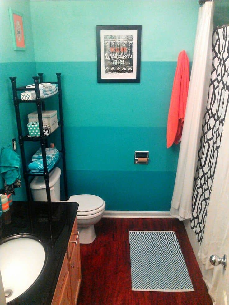 living room decor turquoise small leather chairs for interior design 2017: ombre bathroom