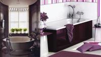 Contemporary bathroom design magic: Purple bathroom ideas