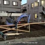 上池袋集合住宅07<遣り方>/上池袋木造公寓・確認建築的位置正確