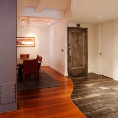 Tile Floors In Kitchen The Honest Com 地板瓷砖错位无边界混搭 巧妙划分干湿空间(图)-青岛新闻网家居