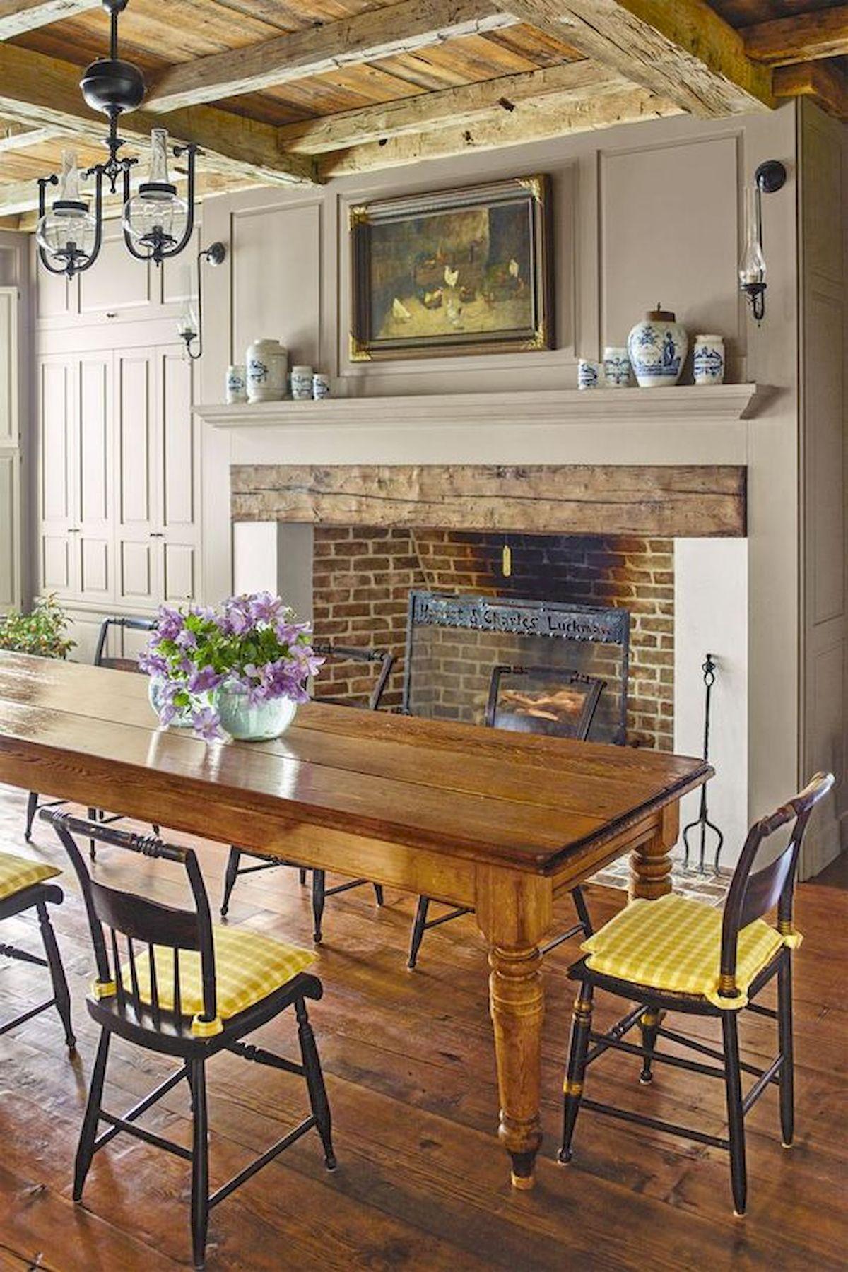 40 Adorable Farmhouse Dining Room Design And Decor Ideas (14)