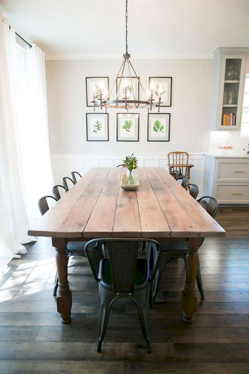 40 Adorable Farmhouse Dining Room Design and Decor Ideas (19)