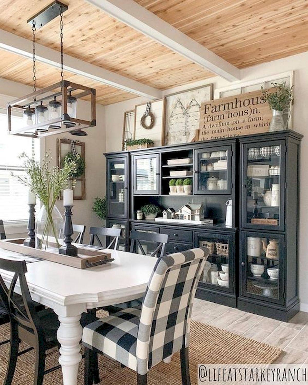 40 Adorable Farmhouse Dining Room Design And Decor Ideas (22)