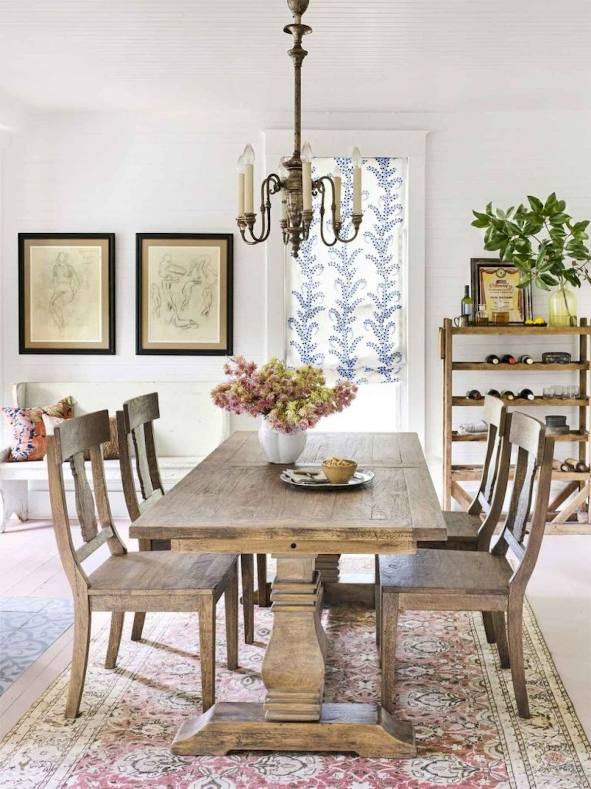 40 Adorable Farmhouse Dining Room Design And Decor Ideas (39)