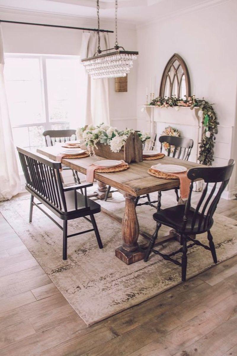 40 Adorable Farmhouse Dining Room Design and Decor Ideas (5)