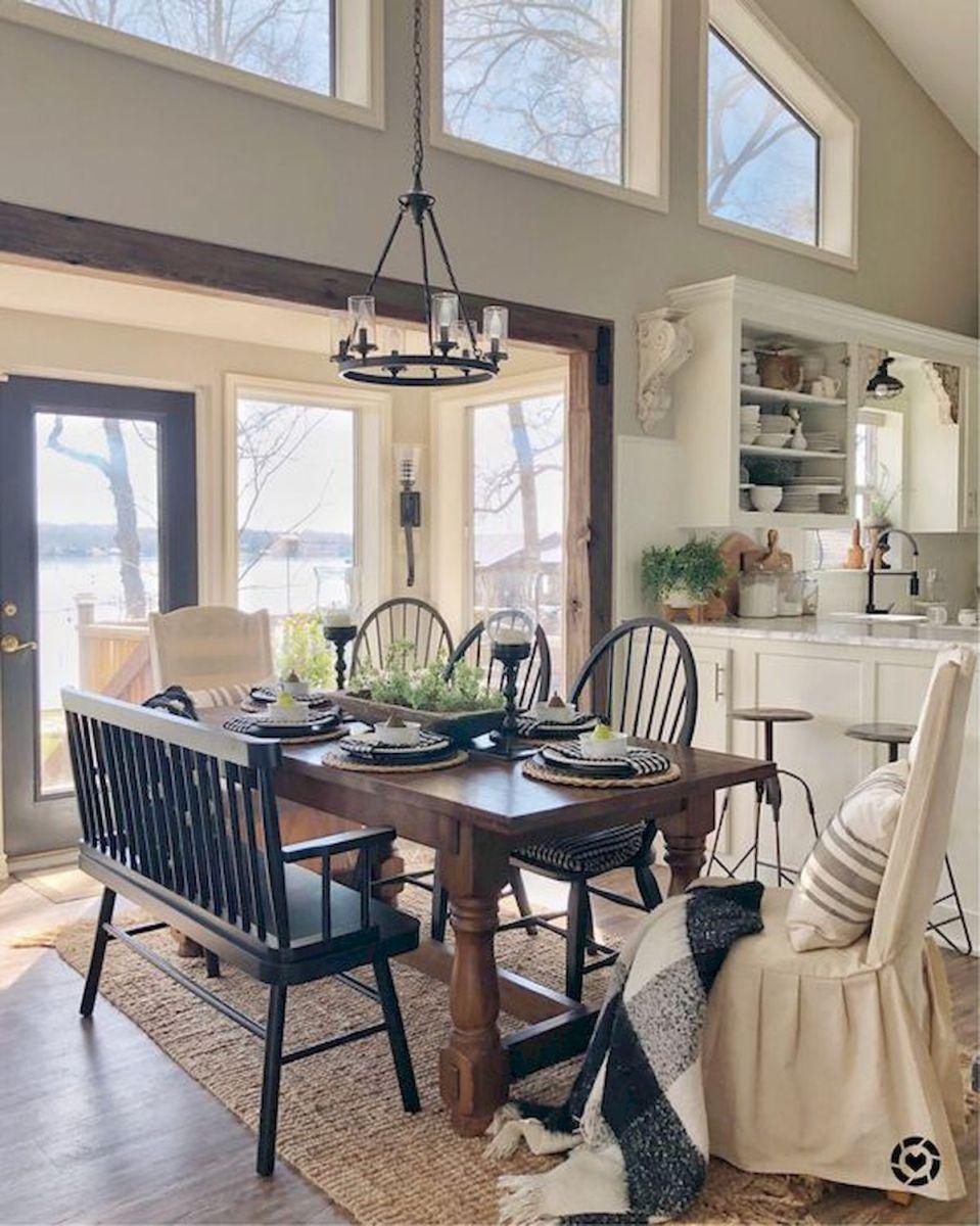 40 Adorable Farmhouse Dining Room Design and Decor Ideas (9)