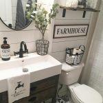 60 Stunning Farmhouse Bathroom Decor and Design Ideas (53)