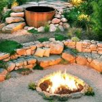 55 Awesome Backyard Fire Pit Ideas For Comfortable Relax (52)