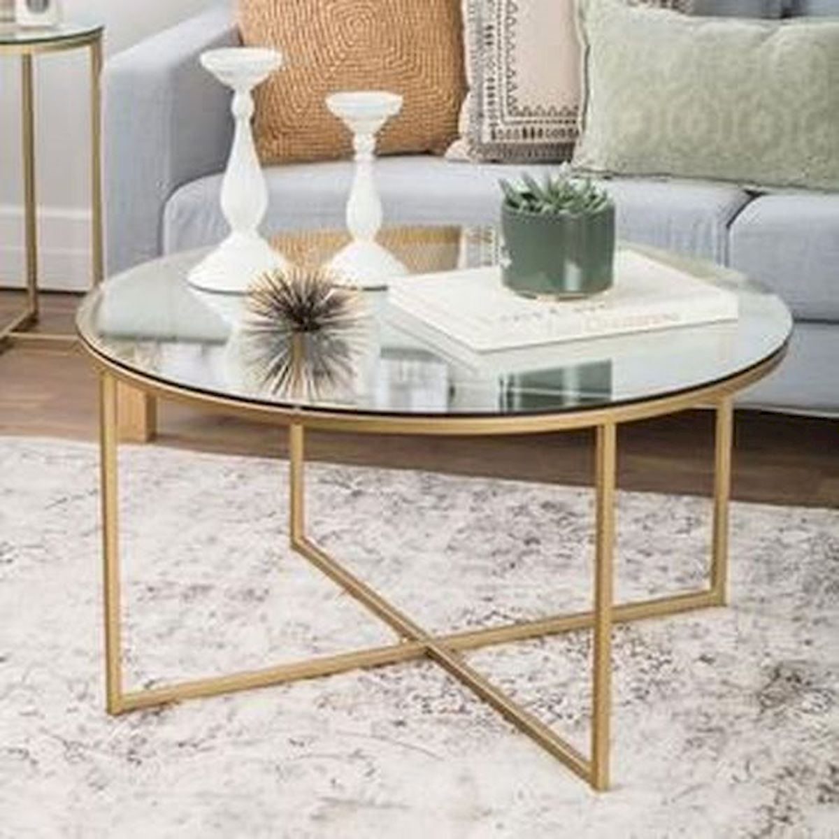 40 Awesome Modern Glass Coffee Table Design Ideas For Your Living Room (35)