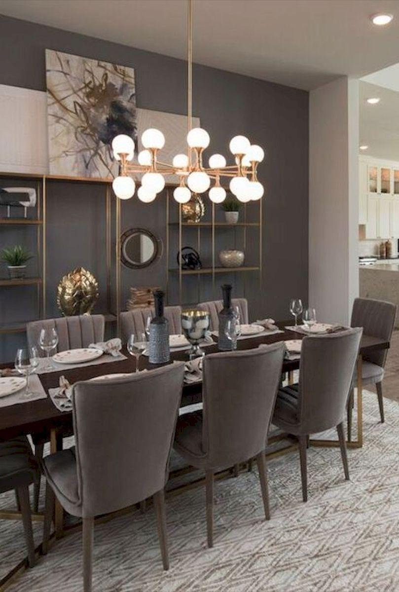 80 Elegant Modern Dining Room Design and Decor Ideas (28)