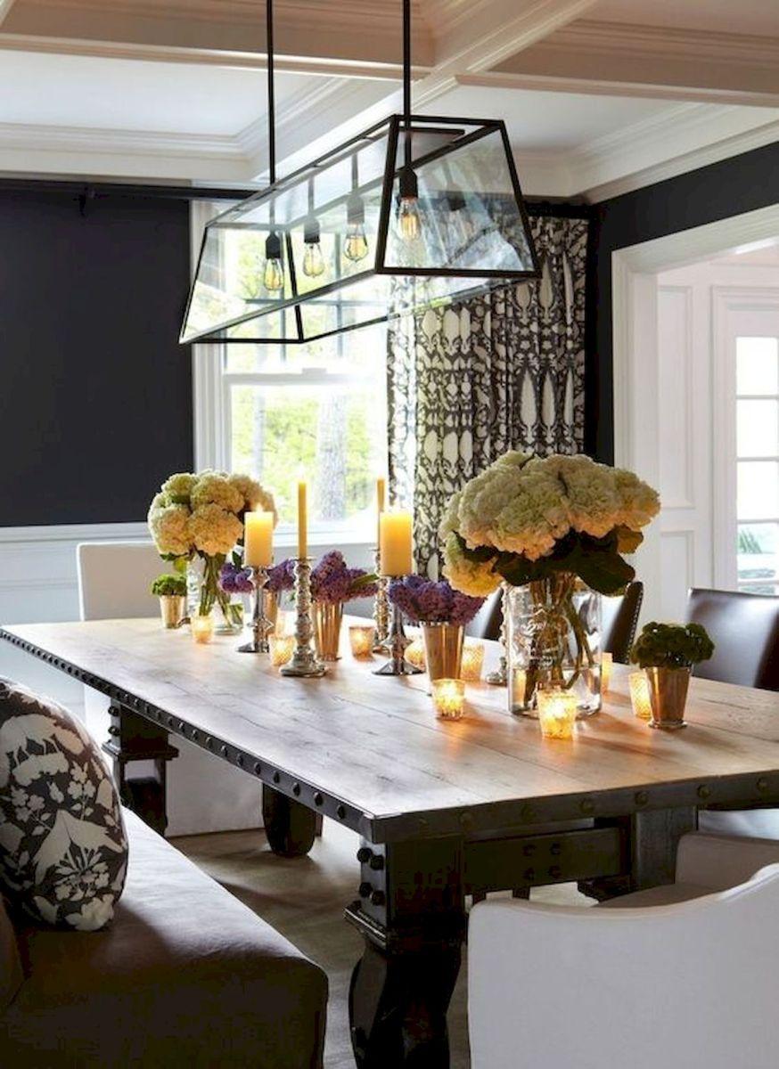 80 Elegant Modern Dining Room Design and Decor Ideas (44)