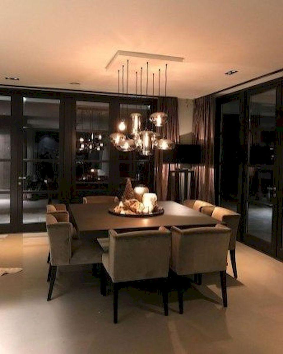 80 Elegant Modern Dining Room Design and Decor Ideas (45)