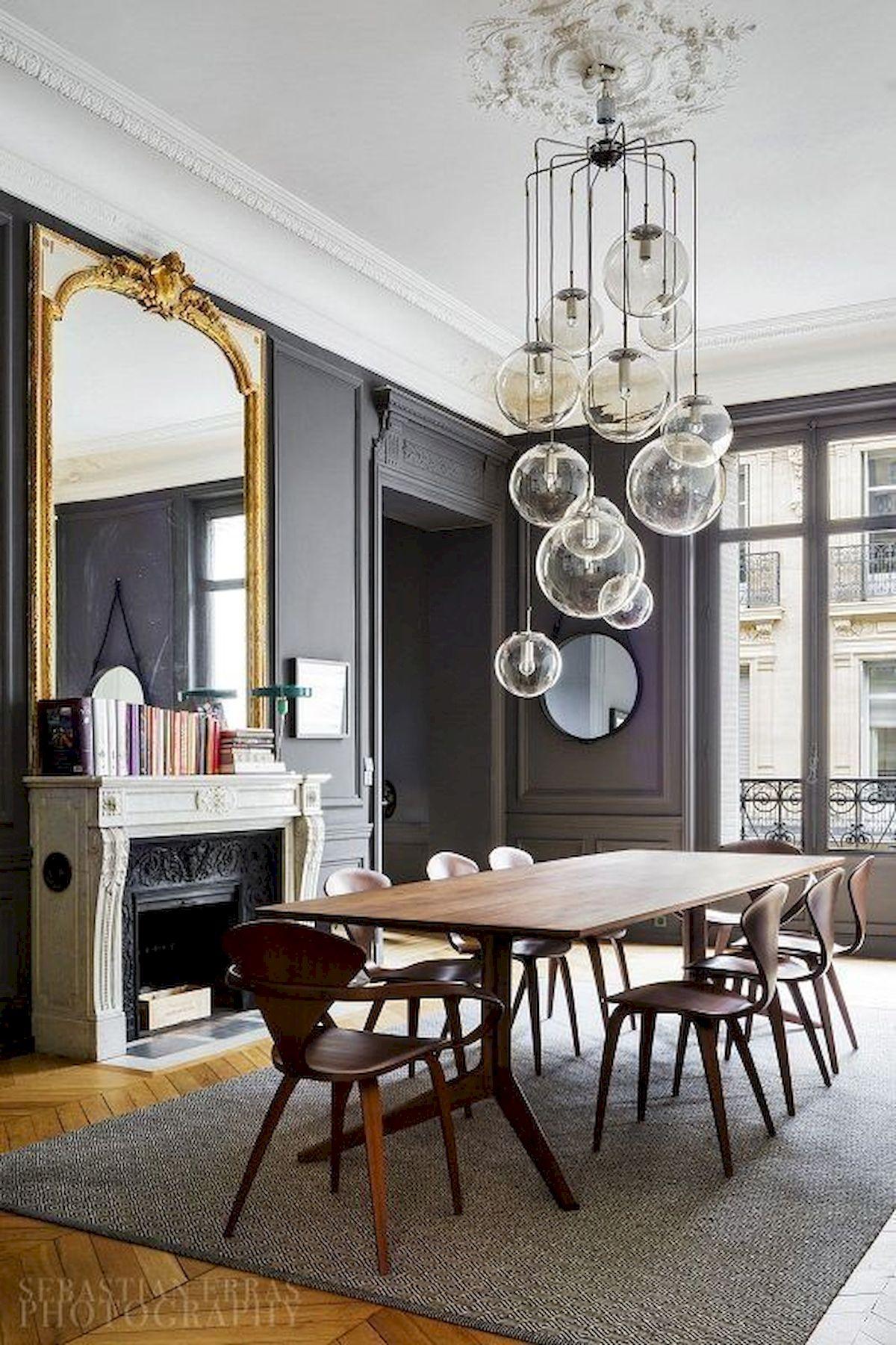 80 Elegant Modern Dining Room Design And Decor Ideas (47)