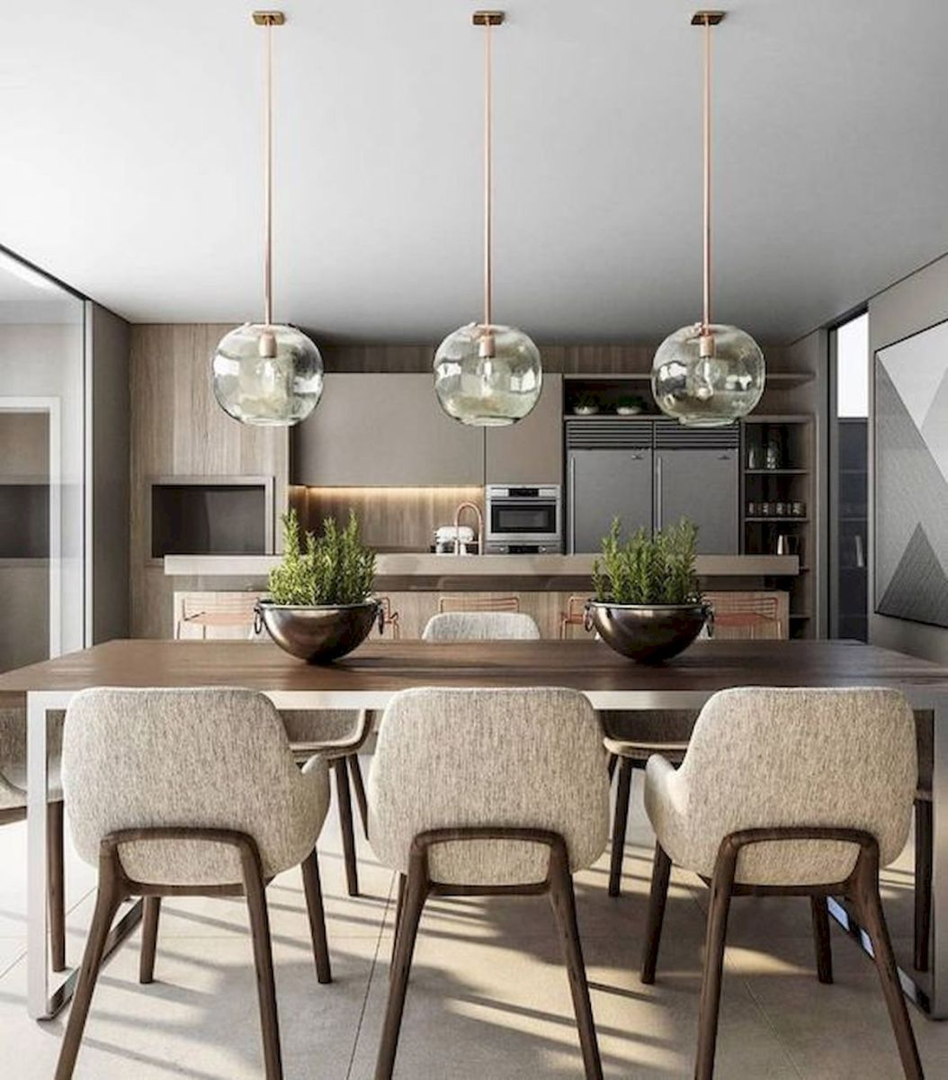 80 Elegant Modern Dining Room Design and Decor Ideas (56)