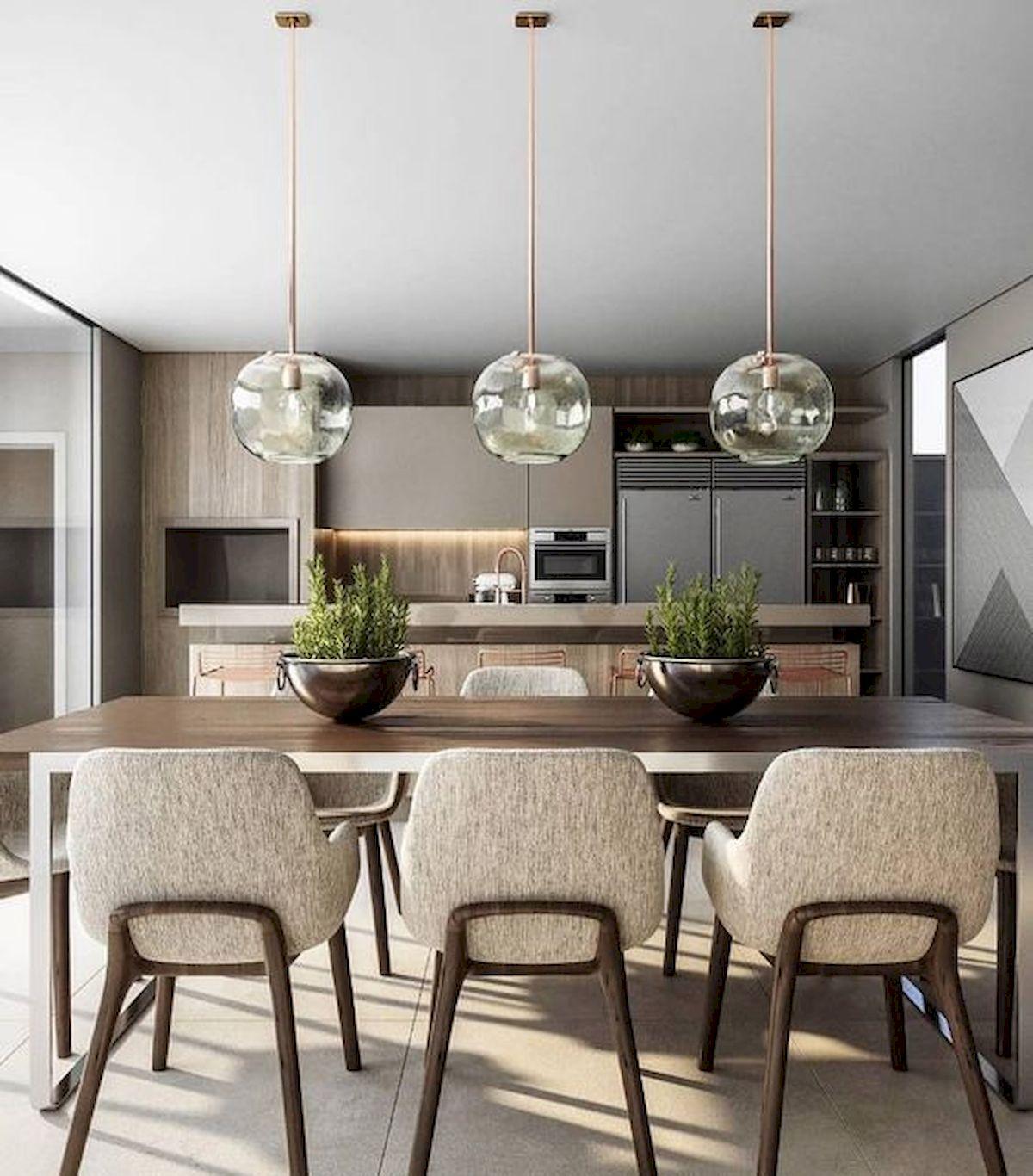80 Elegant Modern Dining Room Design And Decor Ideas (56)