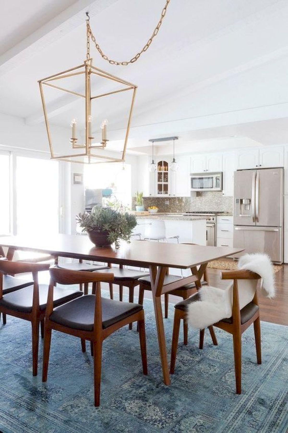 80 Elegant Modern Dining Room Design And Decor Ideas (60)